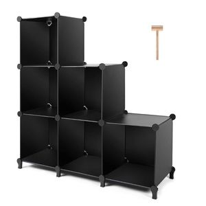 6-Cube Book Shelf Storage Shelves Closet Organizer